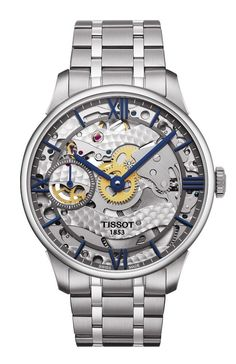 """Tissot Chemin Des Tourelles Squelette Watch - by Patrick Kansa - check out why it caught our attention - today on aBlogtoWatch.com """"As a brand, Tissot really seems to be on quite a tear as of late. They have had quite a few notable new releases over the last few months, and now we are getting word of a sort of second wave. Most of them seem like reasonable additions to the lineup, but there is one in particular that caught our attention: the Tissot Chemin Des Tourelles Squelette…"""""""