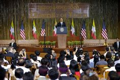 """(President #Obama speaks at #Yangon University)  NBC News 