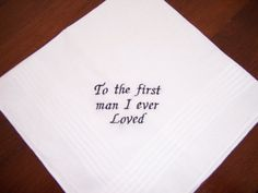 for dad's gift Father of the Bride Hankerchief    White by deborahbabarskas, $15.00