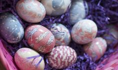 How to Tie-Dye Easter Eggs with silk ties!