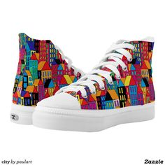 Find brilliant men's sneakers from Zazzle. Whether you like high tops or low top sneakers we have the pair for you. Custom Painted Shoes, Hand Painted Shoes, Shoe Boots, Shoes Sandals, Kawaii Room, Shoe Art, Colorful Fashion, Converse Shoes, Diy Painting