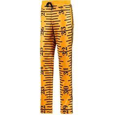 Jeremy Scott Tape Measure Track Pants (120 AUD) ❤ liked on Polyvore featuring men's fashion, men's clothing, men's activewear, men's activewear pants, mens activewear, mens track pants and mens activewear pants