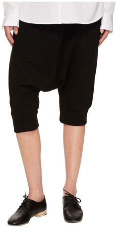 Y's by Yohji Yamamoto - Short Length Sarouel Pnt Drop Crotch Shorts Women's Shorts