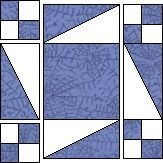 Not Too Fussy paper piecing (T) w pattern