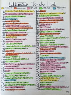 Bullet journal ULTIMATE to do list