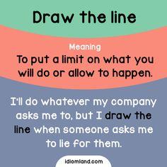 Do you know where to draw the line?