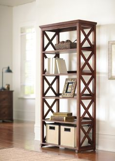 Stay organized with a sharp looking bookcase. HomeDecorators.com