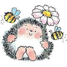 Penny Black 'Buzz in the Air' Wood-mounted Rubber Stamp  Another HEDGIE STAMP!