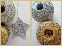 crochet stars ... this would be great ornaments for Christmas!
