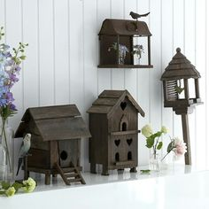 süße Vogelhäuser Designs Holz Material
