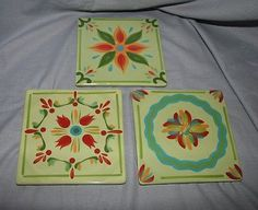 Southern Living At Home Provence Dinner Plate Green Gail Pittman Hand Painted