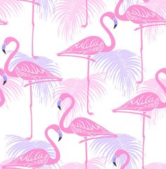 278d99bd4f8 Albany Kidz Flamingo Pink and Lilac Wallpaper main image Pink And Grey  Wallpaper, Palm Leaf