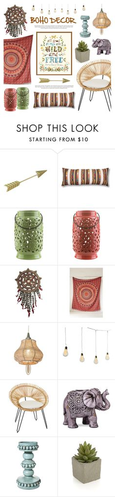 """""""Boho Decor"""" by lgb321 ❤ liked on Polyvore featuring interior, interiors, interior design, home, home decor, interior decorating, Surya, Magical Thinking, Dot & Bo and Boho Boutique"""