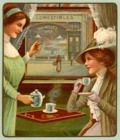 Old Fashioned Tips: Vintage Afternoon Tea Recipes - Inbox - Yahoo! Afternoon Tea Recipes, Vintage Poster, Cuppa Tea, Tea Sandwiches, Fun Cup, My Cup Of Tea, Vintage Tea, Vintage Party, Vintage Ephemera