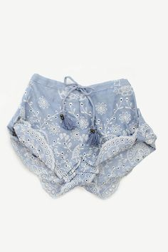 Casablanca Shorts - Chambray from Spell Designs. Saved to Change Clothes And Go 😍 Bohemian Mode, Boho Chic, Bohemian Style, Boho Fashion, Kids Fashion, Womens Fashion, Casual Outfits, Summer Outfits, Summer Clothes