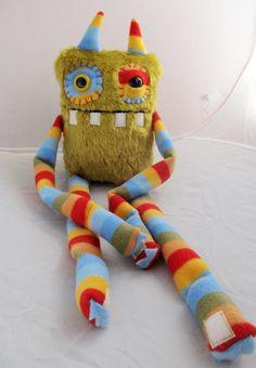 Plush handmade monster