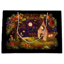 Haunted House Gift Bag - All Hallows' Eve All Saints' Eve & Halloween Make Up, Halloween Party, Halloween Costumes, Halloween Festival, Large Gift Bags, House Gifts, Childrens Gifts, Kids Bags, Festival Party