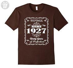 Mens Made In 1927 T-Shirt 90th Birthday Gift T Shirt XL Brown - Birthday shirts (*Amazon Partner-Link)