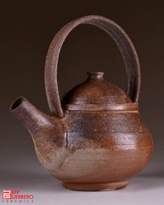 Wood-Fired Stoneware Teapot