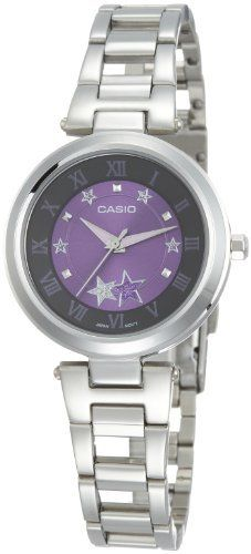 Casio Women's LTP1322D-6A Silver Stainless-Steel Quartz Watch with Purple Dial Casio. $35.24. Quartz Movement. Mineral Crystal. 30 Meters / 100 Feet / 3 ATM Water Resistant. 30mm Case Diameter. Save 29% Off!