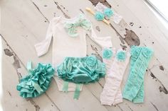 Newborn Baby Girl Coming Home Outfit Set of by ChicCoutureBoutique