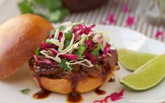 Rosemary Root Beer Slow-Cooked Pork w/ Honey-Lime Slaw