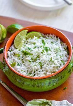 Easy Cilantro Lime Rice Recipe | ChefDeHome.com