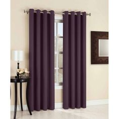 Sun Zero Bedford Blackout Curtain Panel, Purple