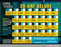 Core De Force Calendar, Deluxe Calendar