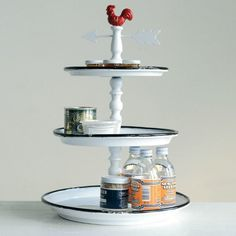 3 Tier Rooster Weathervane Tray