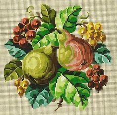 Rare Berlin Woolwork Fruit Pattern