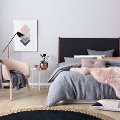 Brilliant Scandinavian Bedroom Design Ideas, Bedroom is one of the rooms where it's recommended not to use bright colours. A little bedroom isn't a curse. It is simply not the place for a king-si. Interior, Home Bedroom, Home Decor, Room Inspiration, House Interior, Apartment Decor, Scandinavian Design Bedroom, Interior Design, Bedroom Styles