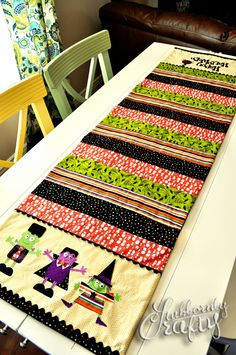 Halloween Table Runner by Stubbornly Crafty