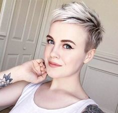 Pixie Bob Hairstyles, New Short Hairstyles, Short Pixie Haircuts, Twist Hairstyles, Blonde Pixie, Short Blonde, Hair Dos, My Hair, Girl Short Hair