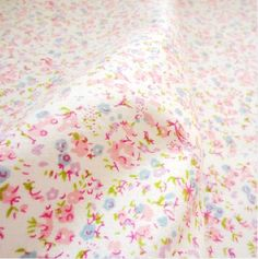 Colorful Flower Baby Jersey Cotton Flannel Fabric DIY Cloth Fabric