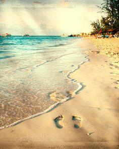 Ocean Photography, Caribbean, Turks and Caicos, Beach, Ocean, Seascape - Teal, Turquoise, Sand, Textured - Fine Art, Beach Art