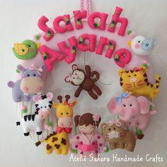 Guirlanda Porta de Maternidade tema Safári para a Sarah Ayane