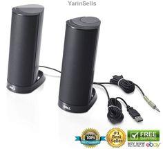 New Dell Computer Speakers USB Desktop Powered Stereo Multimedia Speaker System