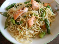 Salmon & Asparagus  Angel Hair Pasta With Lemon - Nordstrom Cafe Recipe