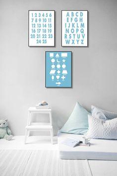 Playroom Wall Decor Nursery Wall Art Printables Alphabet | Etsy Playroom Wall Decor, Nursery Wall Art, Artwork Prints, Canvas Prints, Ups Store, Alphabet Print, Home Printers, Photo Center, Printable Wall Art
