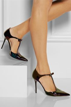 Jimmy Choo | Twain iridescent patent-leather pumps