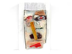 Abstract ceramic wall mask Ceramic Wall Art  3D wall by 99heads,