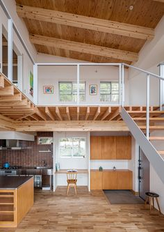 71 cool tiny house design ideas with loft space 14 Loft Design, Tiny House Design, Design Case, Design Design, Plan Design, Tiny Loft, Casas Containers, Garage Apartments, Garage Apartment Interior
