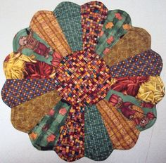 Fall Autumn Harvest Dresden Plate Table Topper