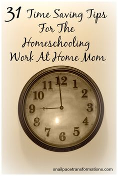 Even if you are not a homeschooling work at home mom you can gain something from this series. Learn how to make time in your day to pursue your passions.