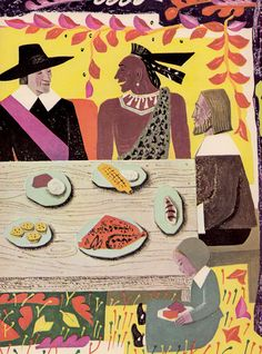 BOOK INFO - The Thanksgiving Story by Alice Dalgliesh, illustrated by Helen Sewell.    Published by Charles Scribners Sons in 1954.    Hardcover.