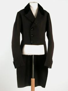 Man's black tailcoat 1820-30. National Trust