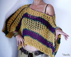 Summer wrap Evening wrap Loose Knit Poncho Summer poncho