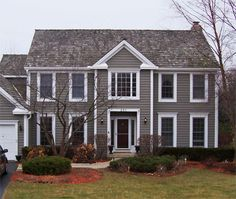 two tone gray houses Two Tone Exterior House Colors house