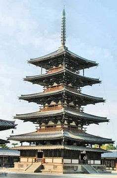 Houryuji-temple. Nara. Japan. 奈良、法隆寺